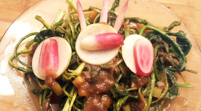 Tamarind Turnip and Radish Greens